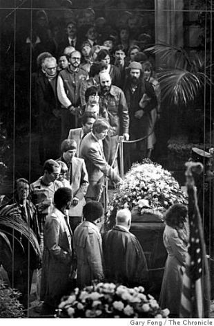 Harvey Milk Assassination | Mourners file past the caskets of George Moscone and Harvey Milk in ...
