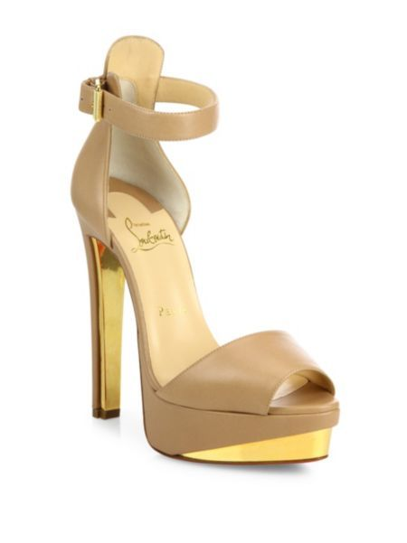 Christian Louboutin - Tuctopen Leather Ankle-Strap Platform Sandals