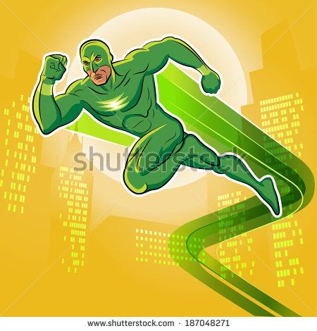 Super hero. Vector illustration on a background - stock vector