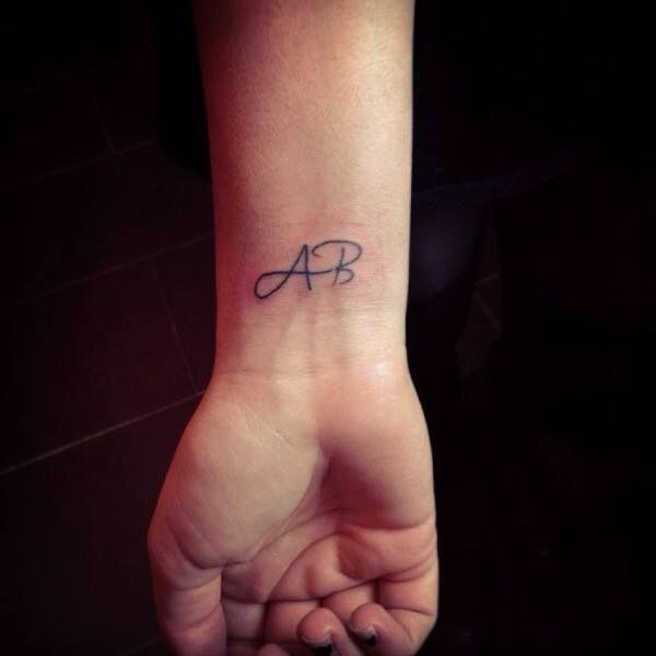 Small Lettering Tattoo, Initials, Done By Sandra From