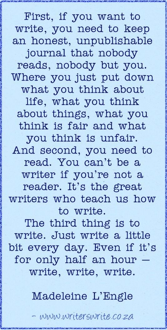 Great writing advice here.