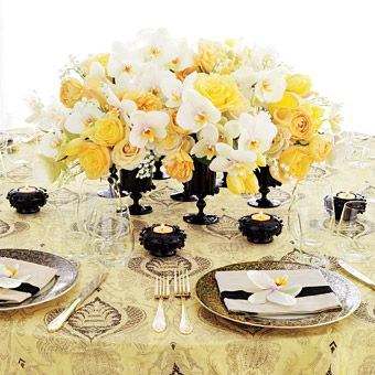 #wedding #boda #amarillo #yellow #flores #banquete #flowers Www.