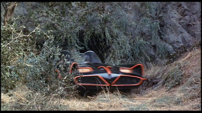 Batmobile Exiting Secret Entrance Of Batcave Batman 1966