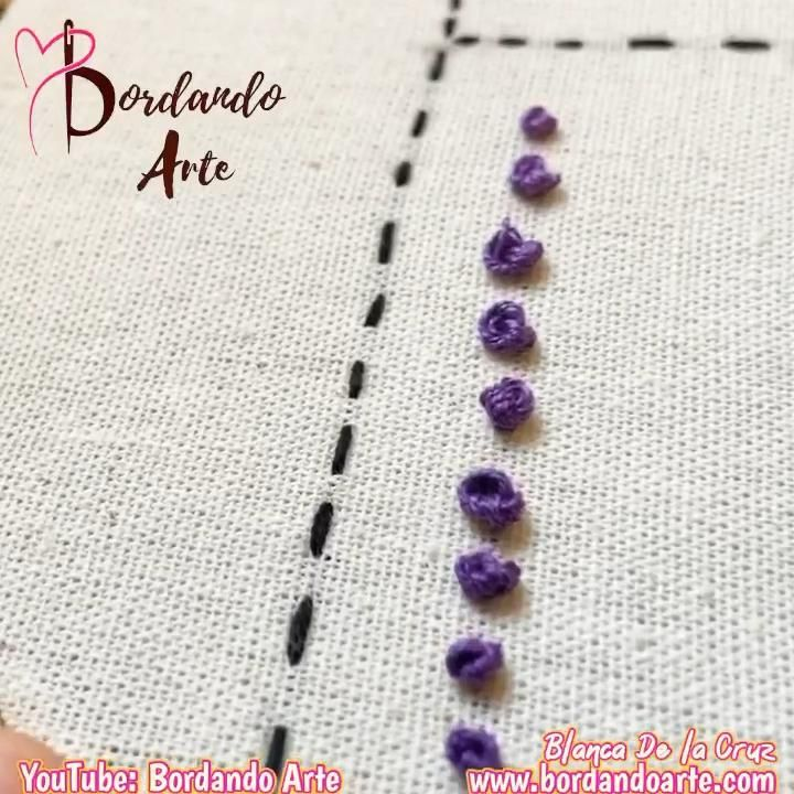 Mira el tutorial completo de 41 puntadas paso a paso en mi canal de YouTube: Bordando Arte Floral Embroidery Patterns, Hand Embroidery Videos, Embroidery Stitches Tutorial, Hand Embroidery Flowers, Embroidery Sampler, Learn Embroidery, Embroidery Techniques, Creative Embroidery, Simple Embroidery