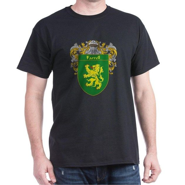 "Farrell Coat of Arms/Family Crest: Ireland Irish England Wales Scotland ancestry Celtic Gaelic crest family genealogy heritage shield name ""last name"" surname gift t-shirt mug"