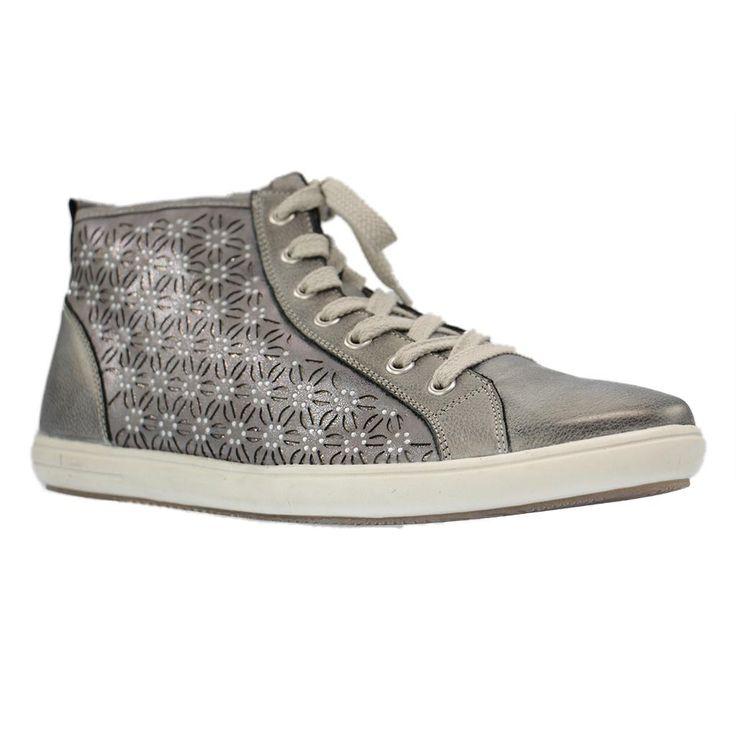 REMONTE - D9193 - große Damen Sneaker - Grau Schuhe in Übergrößen Grösse 42, 44, 45