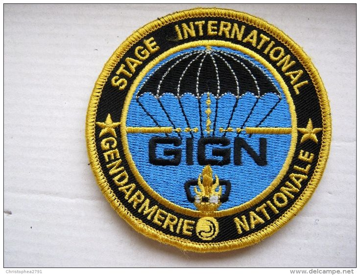 INSIGNE TISSUS PATCH GENDARMERIE NATIONALE LE GIGN STAGE INTERNATIONAL SUR VELCRO ETAT EXCELLENT - Police & Gendarmerie