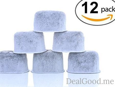 12-Pack KEURIG Compatible Water Filters by K&J  Universal Fit (NOT CUISINART) Keurig Compatible Filters  Replacement Charcoal Water Filters for Keurig 2.0 (and older) Coffee Machines