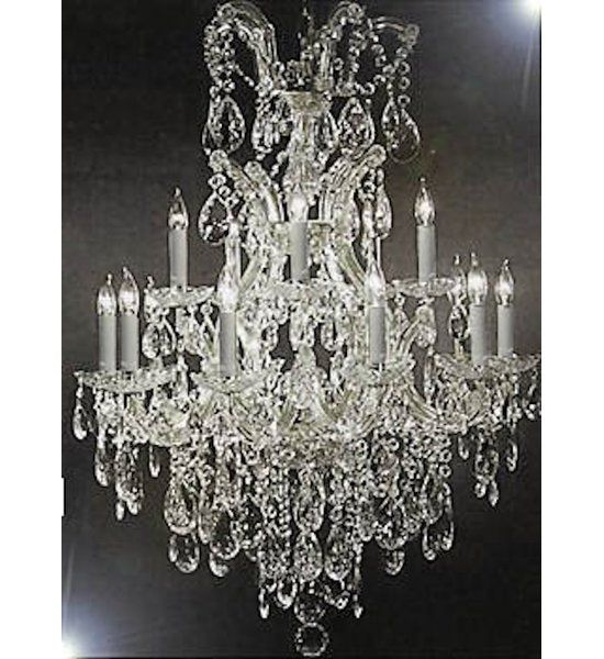 This beautiful Chandelier is trimmed with Spectra (tm) crystal– Reliable crystal quality by Swarovski®! Swarovski® is the world's leading manufacturer of high quality crystal. Spectra (tm) crystal by Swarovski® undergoes stringent quality control and offers the best crystal for uniformity of sparkle, light reflection and spectral colors. Maria Theresa chandelier dressed with swarovski crystal. A great European tradition. Nothing was ever quite so elegant as the fine crystal chandeliers th...