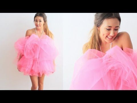 DIY Loofah Halloween Costume | LaurDIY - YouTube