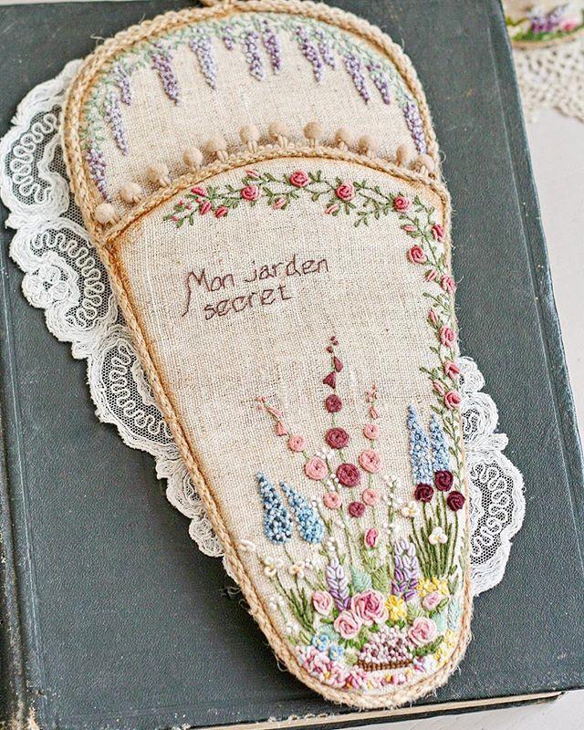 WEBSTA @ sinkevich_nadia - Когда-то увидела в нете чехол для ножниц, вышитый Lorna Bateman, и так захотелось такую красоту попробовать сделать! И вот, наконец, готов!  #вышивка #embroidery #vintagehome #vintagestyle