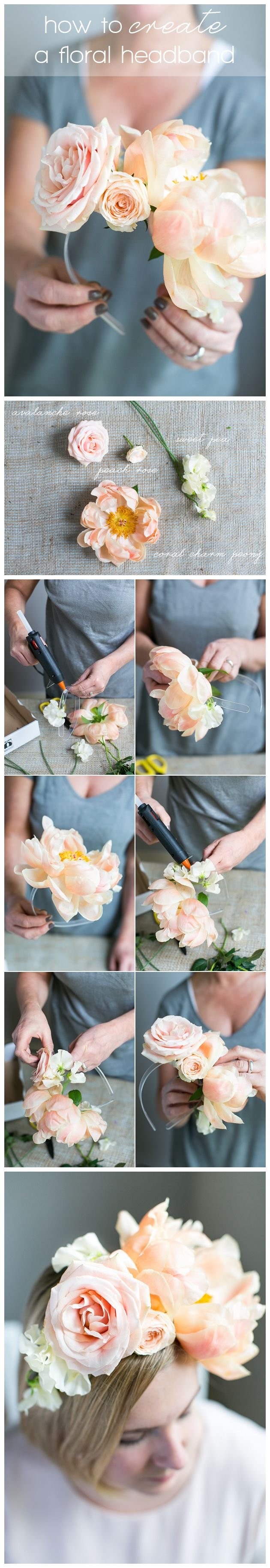 How To Make An Asymmetrical Floral #Headband