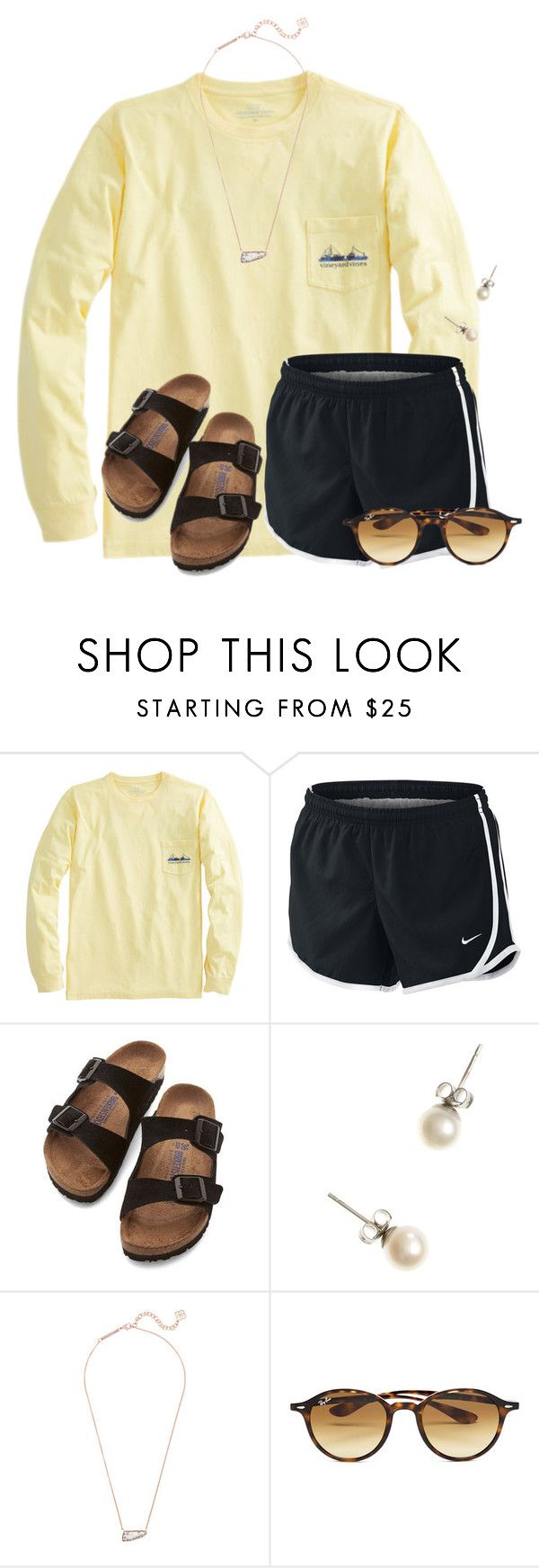 Chemistry test next..... by flroasburn ? liked on Polyvore featuring NIKE, Birkenstock, J.Crew, Kendra Scott and Ray-Ban