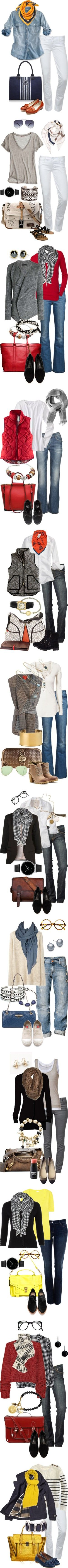 Simple Favorites by simple-wardrobe on Polyvore featuring Hudson Jeans, J.Crew, ReLuxe, Tory Burch, Rupert Sanderson, Calypso St. Barth, K. Jacques, Adddress, Georg Jensen and DANNIJO