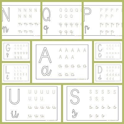 Fichas de lectoescritura. Trabaja el abecedario