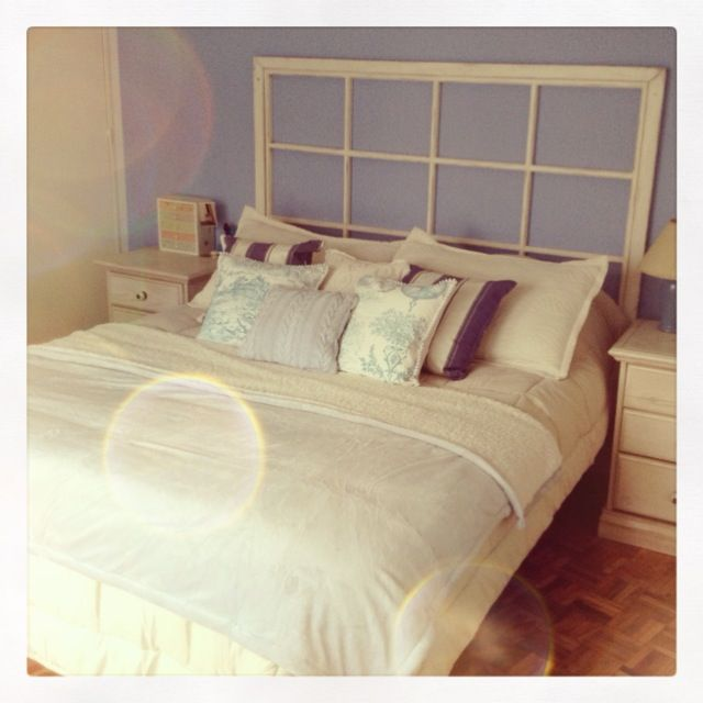I need to figure out a purpose for the huge old window sitting in the basement & Best 25+ Old window headboard ideas on Pinterest | Window pane ... Pezcame.Com