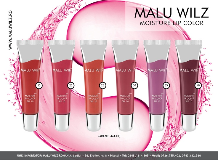 MOISTURE LIP COLOR is available at MALU WILZ ROMANIA! MALU WILZ Products are manufactured in Germany! www.maluwilz.ro