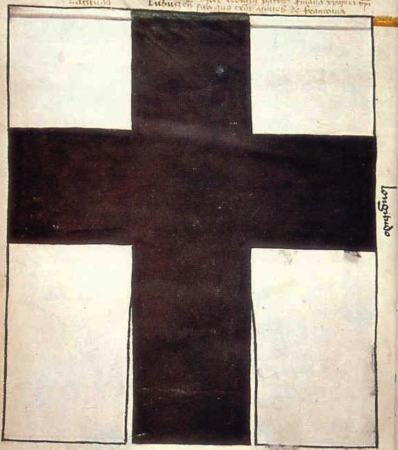 "f°3v,  Banner of the Teutonic Order, under which Grand Marshal of Prussia, Friedrich Wallerod -- ""Banderia Prutenorum"", by Jan Dlugosz, 1410"