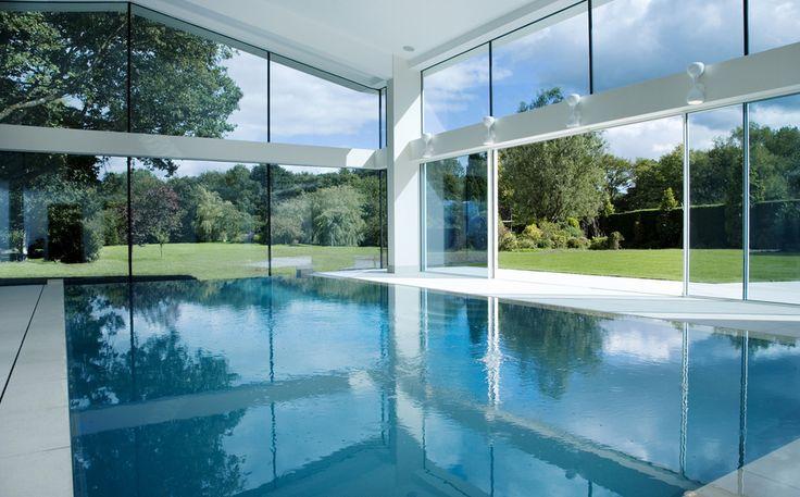 Stunning indoor Pool in The UK by Keller Minimal Windows