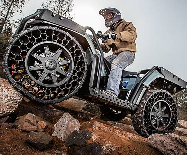 Polaris Sportsman WV850 - Airless Tire ATV | DudeIWantThat.com