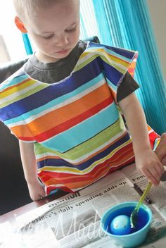 Kids Art Smock Tutorial