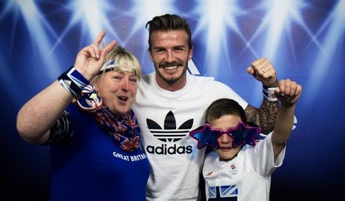 Adidas And David Beckham Surprises 'Team GB' Fans In Photobooth