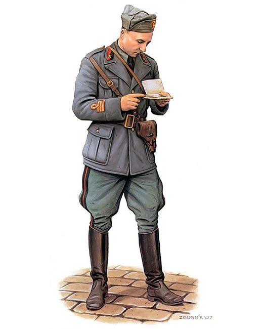 """Regio Esercito - Capitano della 41ma Divisione Fanteria """"Firenze"""", Albania 1941"""