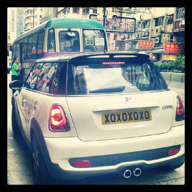 Cute plates on this Mini.