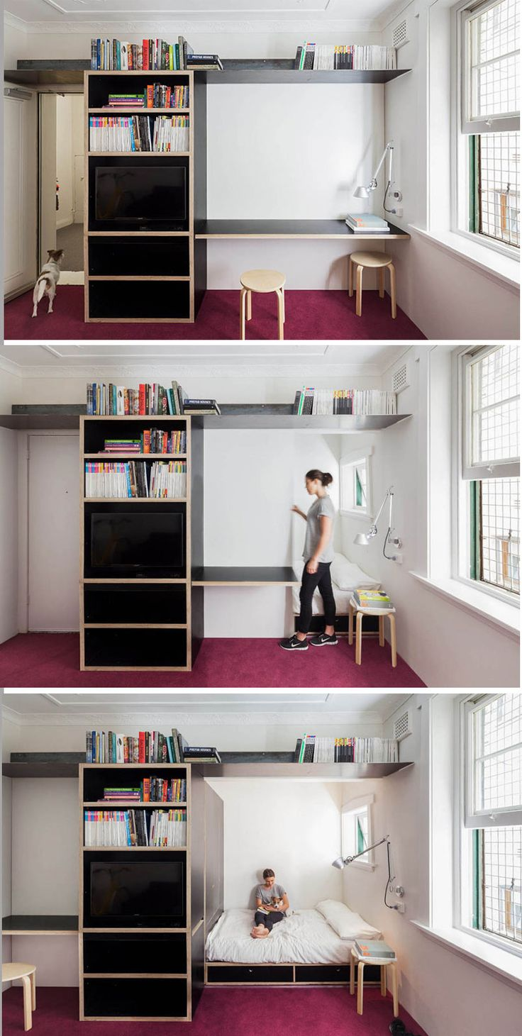 Multi use space in a bijou apartment by Sydney based architect Nicholas Gurney
