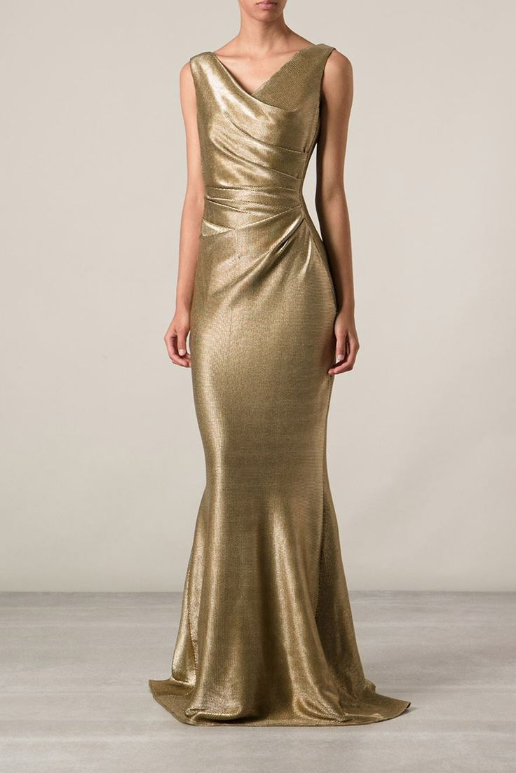 five gold gowns inspired by amal talbot runhof. Black Bedroom Furniture Sets. Home Design Ideas