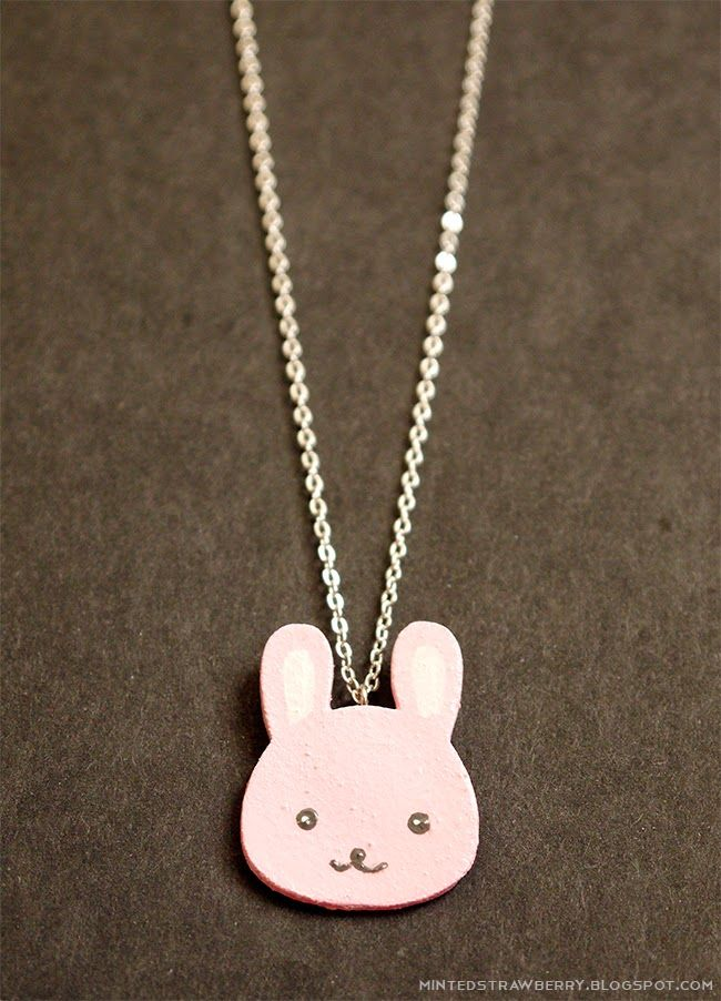 DIY your own Cute Bunny Charms @ mintedstrawberry.blogspot.com #kawaii #cute #freetemplate