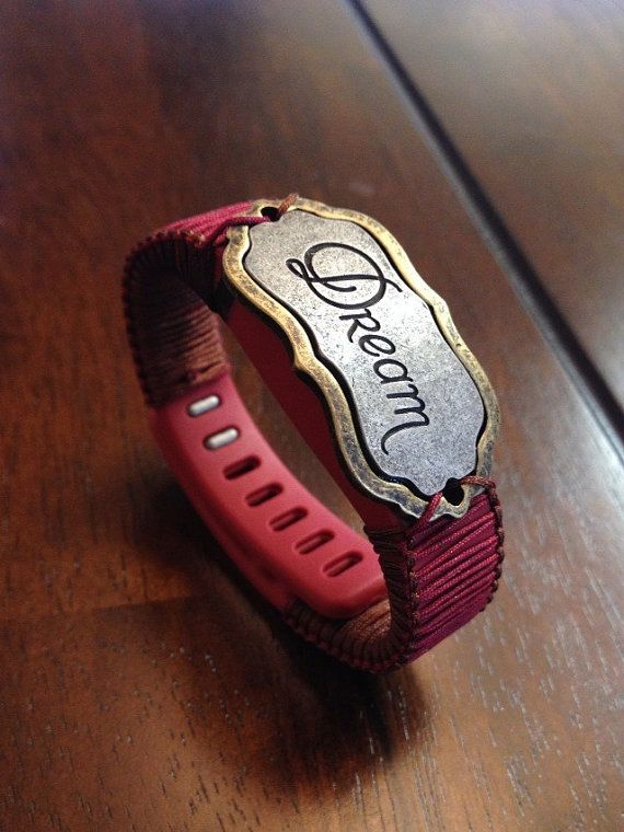 Fitbit Flex Band Deep Red and Brown by JennysTrinketShoppe on Etsy