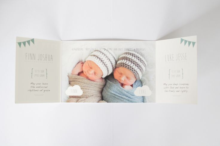 Geboortekaartje Finn & Luke - tweeling jongens - Ontwerp door www.leesign.nl #tweeling #geboortekaart #geboortekaartje #twin #twins #jongens #birthannouncement #leesign #twinbirthannouncement #birthcard