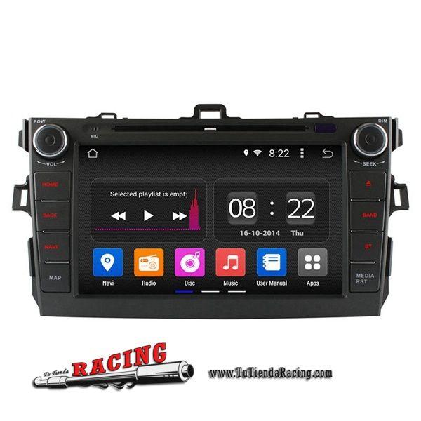 Consola Ordenador a Bordo DVD GPS Radio 2GB RAM WiFi OBD DVR 1024x600 Para Toyota Corolla 2006-2011 -- 280,68€