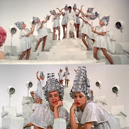 """My FAVORITE song and scene from Grease...""""Beauty School Dropout"""". What girl wouldn't want Frankie Avalon singing to her? Love it!   ;-)"""