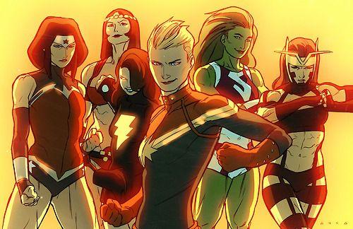 Big Barda | She-hulk | Wonder Woman | Carol Danvers | Mary Marvel | Captain Marvel | Jet Zola by Kris Anka