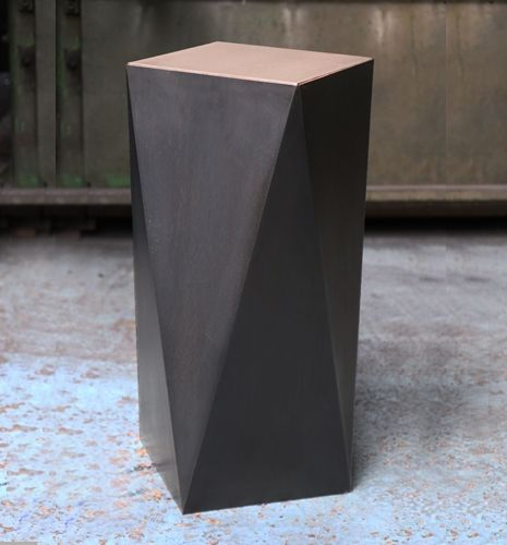 Balzac Side Table in Dark Bronze - a dark and mysterious piece.