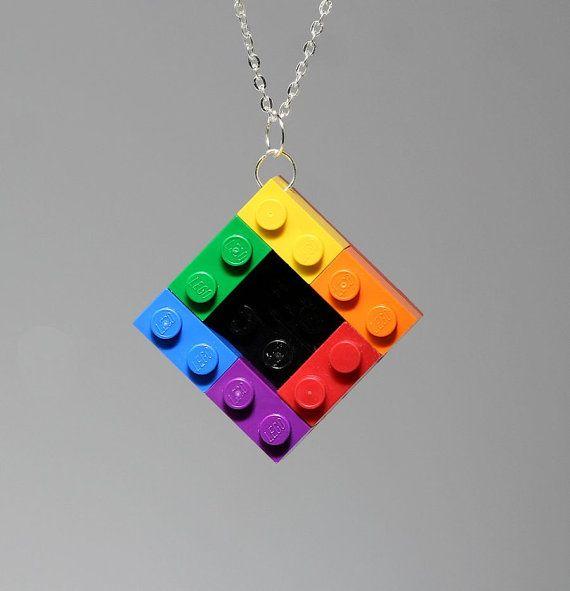 Lego Pendant - Rainbow  Shop  ToyBoxJewellery