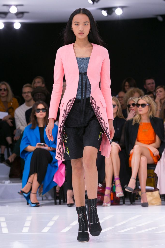 "Vanessa Friedman: Because Raf Simons made the 18th century cool at Christian Dior. Just imagine the conversation between friends: ""Hey, ready to go to Soho House/the Carlyle/the Oscar lunch?"" ""Sure, just let me throw my frock coat on over these jeans."" I rest my case. (Photo: Nowfashion)"