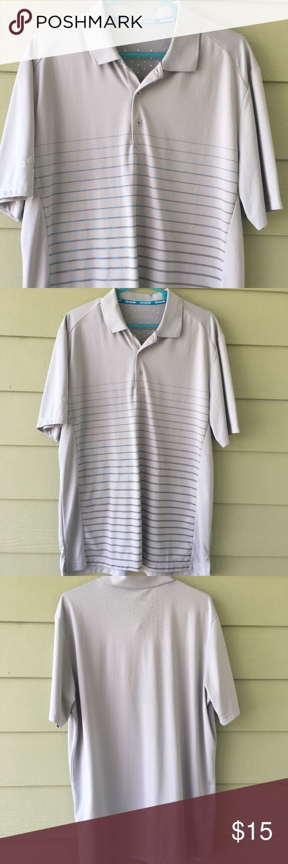 Men's Adidas golf shirt Climachill technology helps you keep your cool on the golf course! adidas light gray golf shirt. Size XL. Worn once. Adidas Shirts Polos
