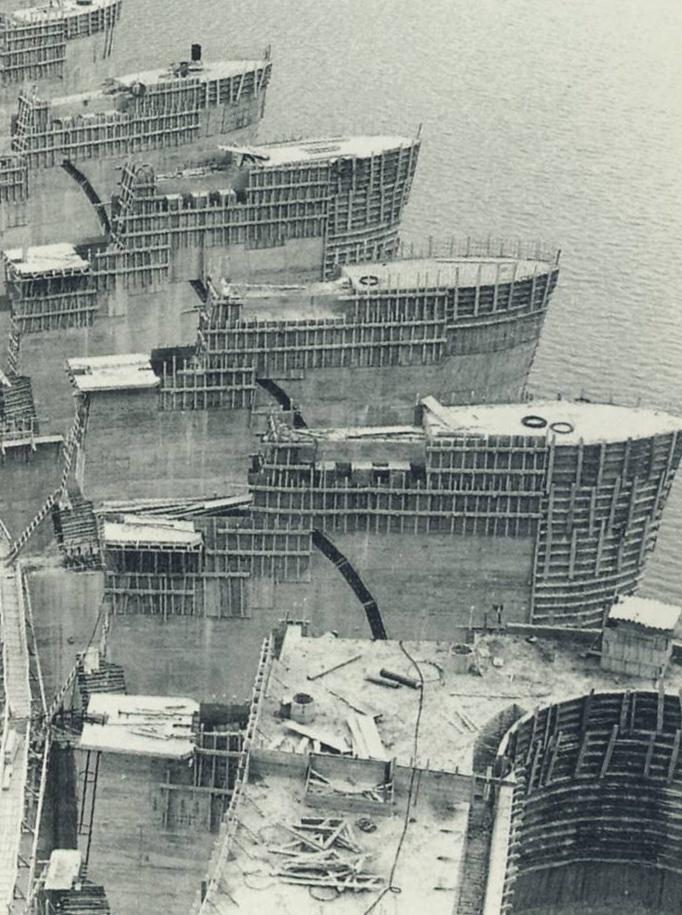 Construcción de la presa de Aldeadávila.