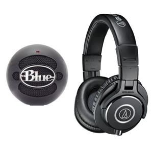 Audio-Technica ATH-M40x Headphones  Blue Snowball Microphone $105  free shipping #LavaHot http://www.lavahotdeals.com/us/cheap/audio-technica-ath-m40x-headphones-blue-snowball-microphone/59763
