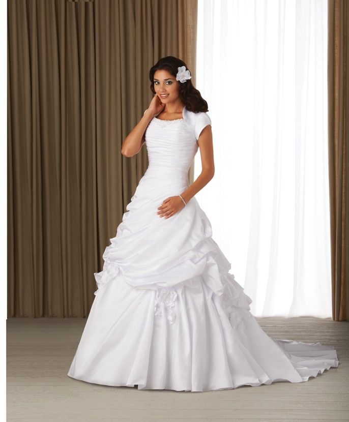 Modest Wedding Gowns: 401 Best Wedding Clothes, Gowns & Suits Images On Pinterest