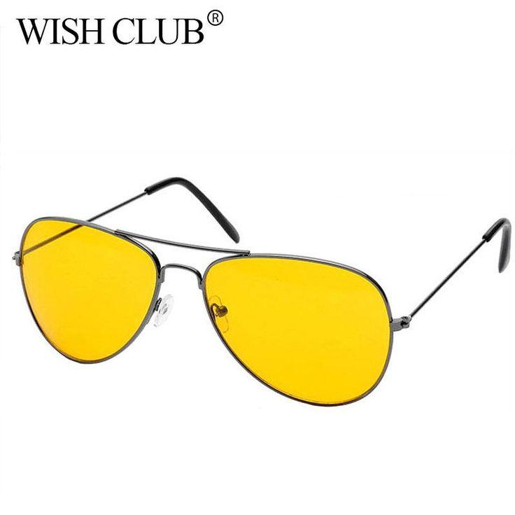 Buy Wallmart.win 2017 New Arrival Men's Sunglasses Car Drivers Night Vision Goggles Anti-Glare Yellow Sun glasses Women Driving Glasses:…