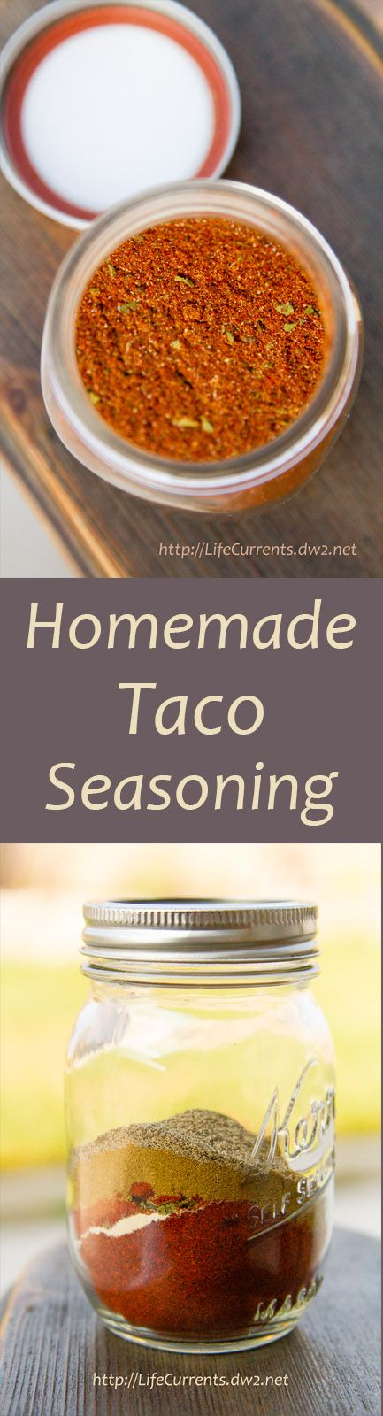 Homemade Taco Seasoning is amazing! It smells so deep & rich. So full of flavor. And, I left the salt out entirely. Make your own today!