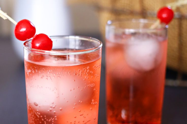 Dirty Shirley, alcoholic drinks, shirley temple drink, easy mixed drinks, drinks…