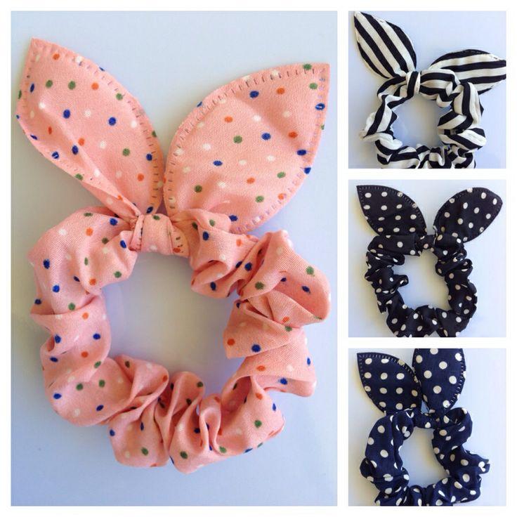 Bunny ears scrunchie..