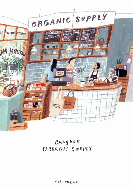 Organic Supply, Bangkok Illustration by Moreparlsey