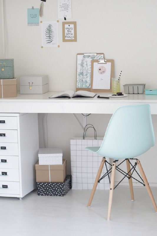 Add a pinch of soft colors to your home office