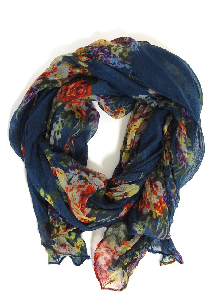 Must ownBeautiful Scarf, Navy Floral, Clothing, Closets, Floral Blue, Floral Scarf, Blue Floral, Accessories, Blue Scarf